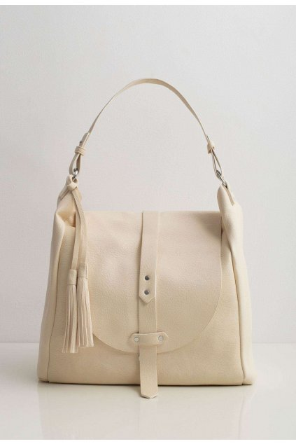 Krémová dámska kabelka