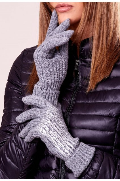 Grafitové dámske rukavice