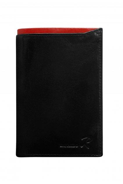 Čierno - červená pánska peňaženka
