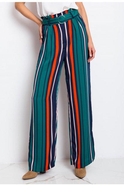 Zelené dámske nohavice
