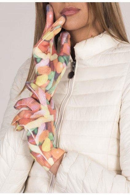 Viacfarebné dámske rukavice