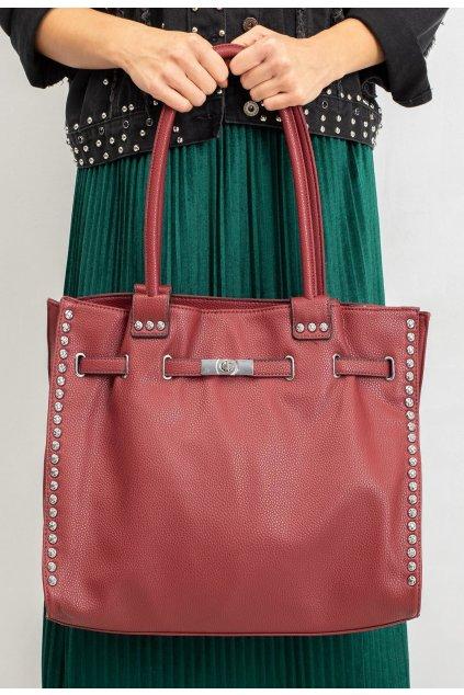 Bordová dámska kabelka