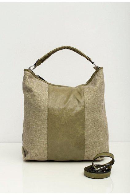 Olivová dámska kabelka