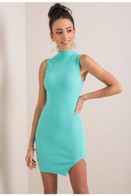 Tyrkysové dámske puzdrové šaty
