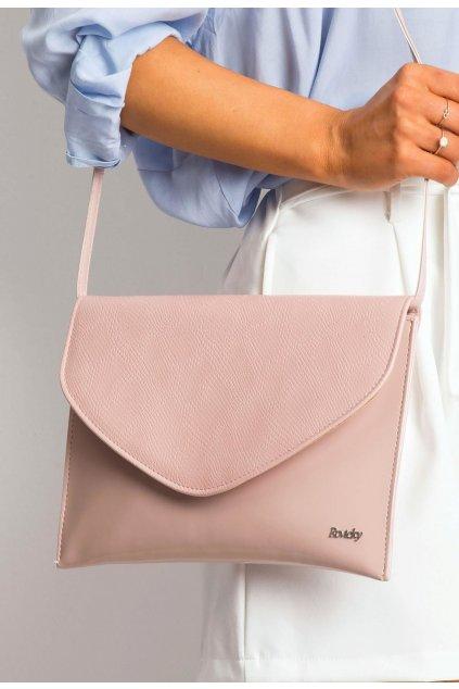 Ružová dámska listová kabelka