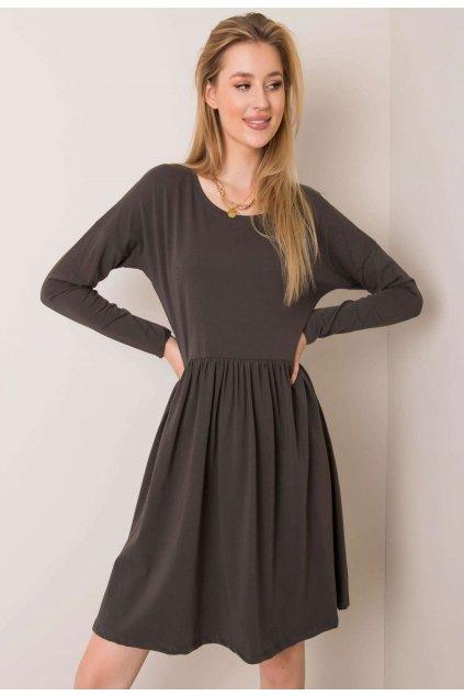 Khaki dámske šaty