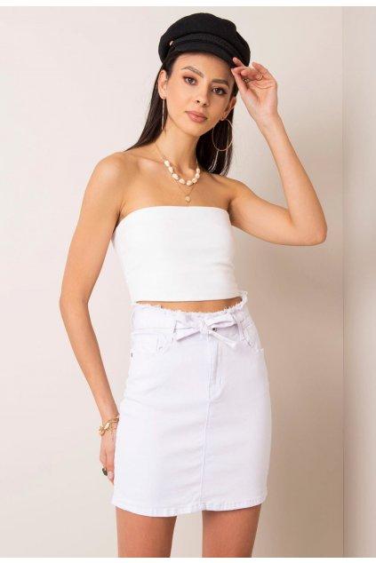 Biela dámska riflová sukňa