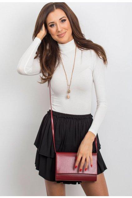 Červená dámska listová kabelka