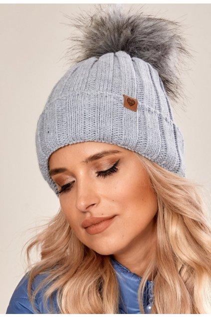 Šedá dámska čiapka