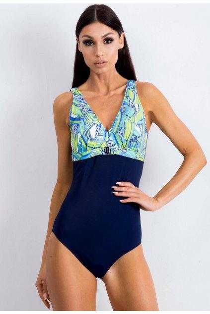 Modré dámske plavky