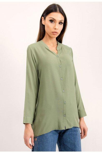 Khaki dámska košeľa