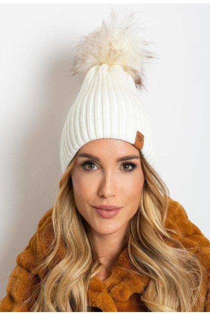 Ecrová dámska čiapka