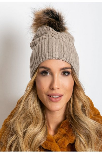 Béžová dámska čiapka