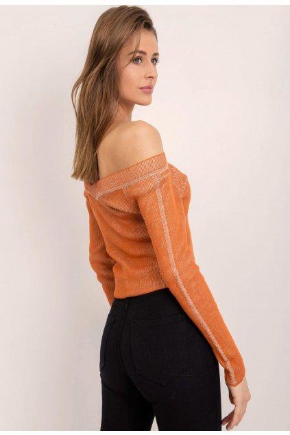 Oranžová dámska blúzka