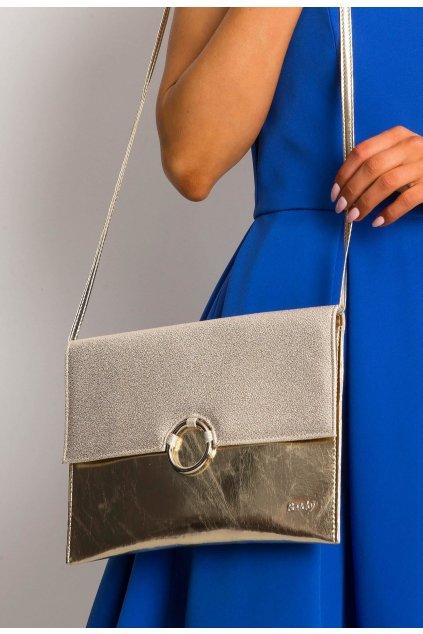 Zlatá dámska listová kabelka