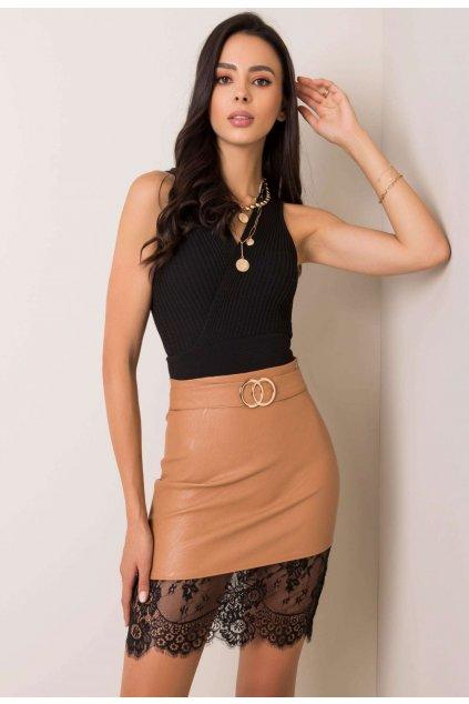 Béžová dámska sukňa