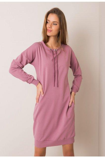 Fialové dámske šaty