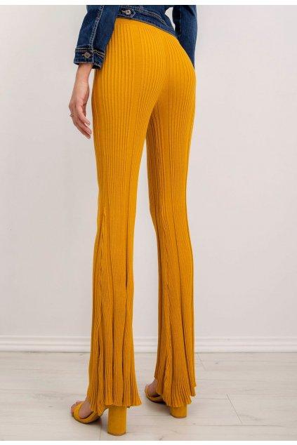 Žlté dámske nohavice