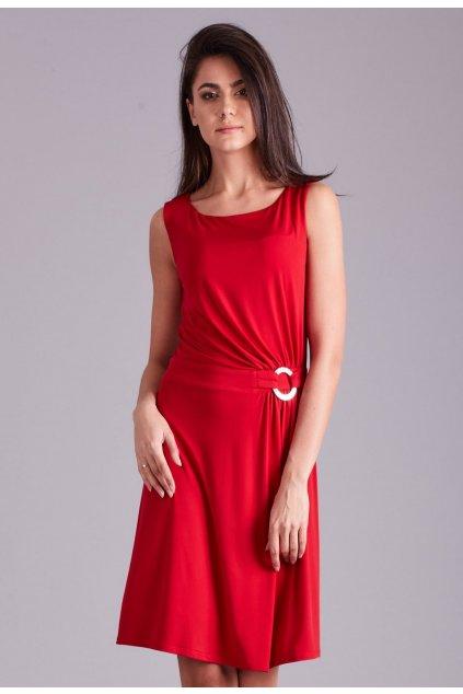 Červené dámske spoločenské šaty
