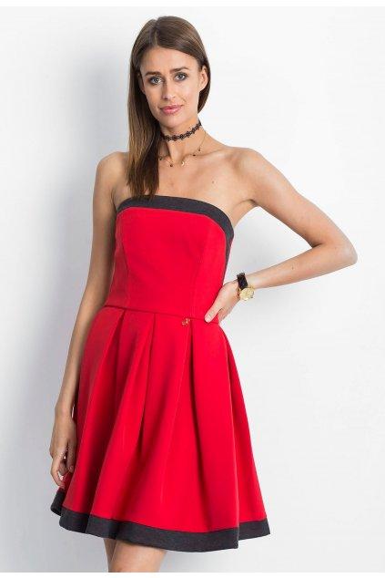 Červené dámske koktejlové šaty