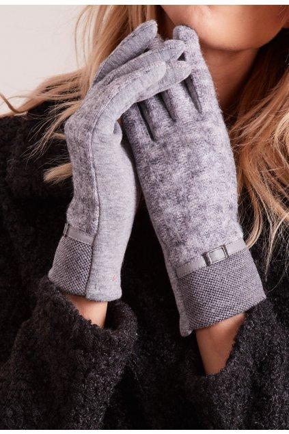 Šedé dámske rukavice
