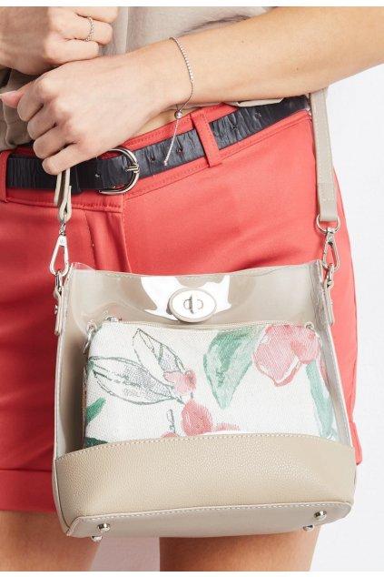 Béžová dámska kabelka