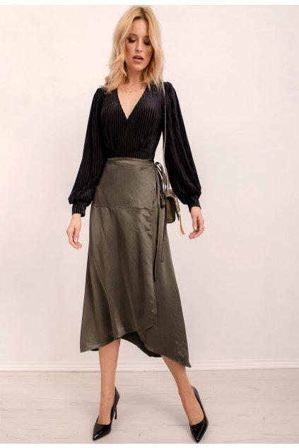 Khaki dámska sukňa