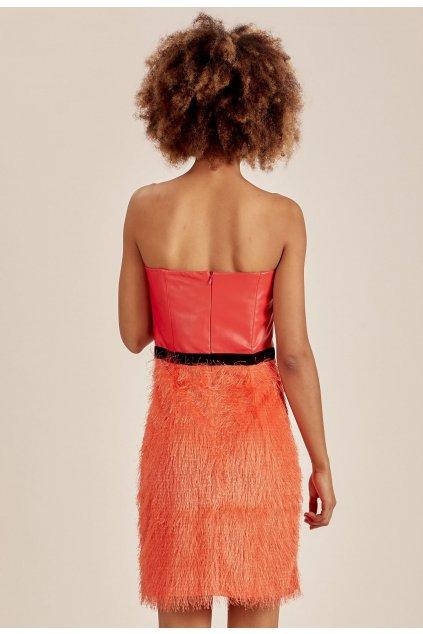 Oranžové dámske koktejlové šaty