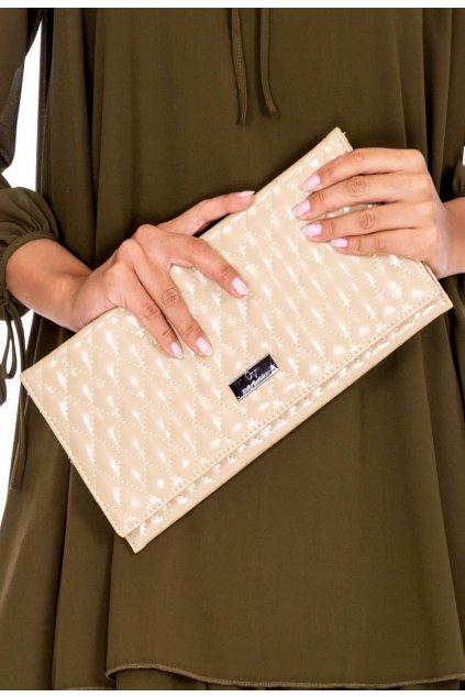 Béžová dámska listová kabelka