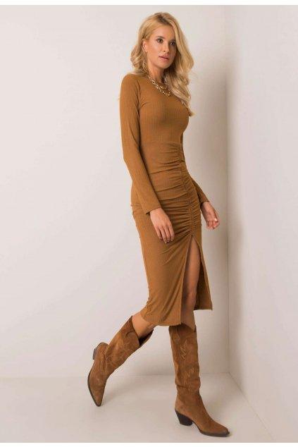 Hnedé dámske šaty