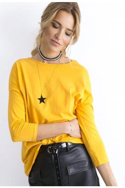 Žltá dámska blúzka