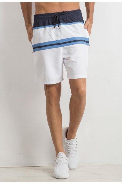 Bielo - modré pánske kraťasy