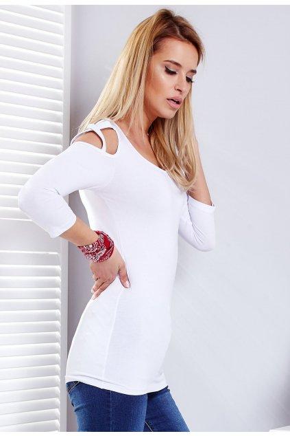 Biela dámska blúzka
