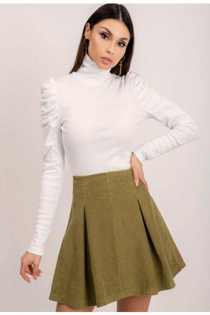 Khaki dámska sukňa do áčka