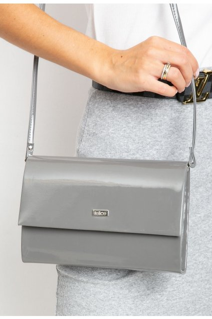 Šedá dámska listová kabelka