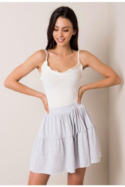 Šedá dámska pletená sukňa