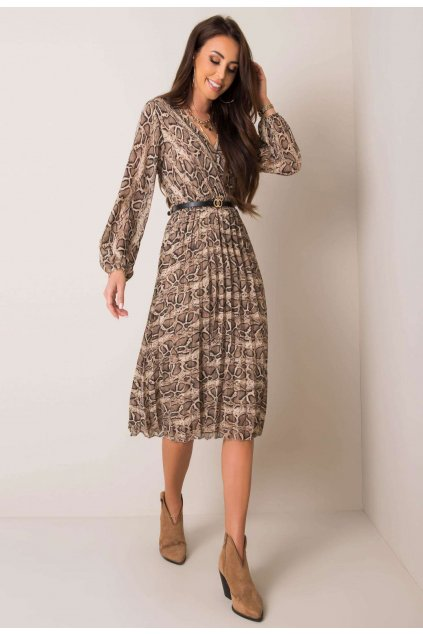 Čierno - béžové dámske šaty