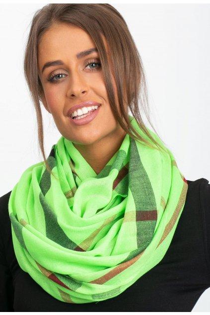 Zelená dámska šatka