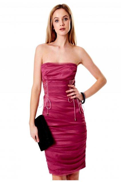 Fialové dámske koktejlové šaty