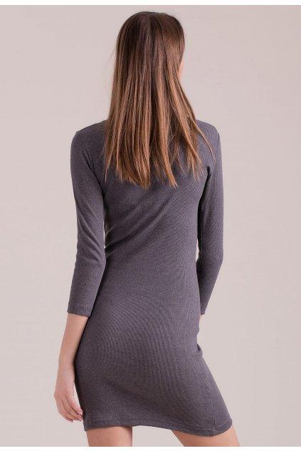 Šedé dámske pletené šaty