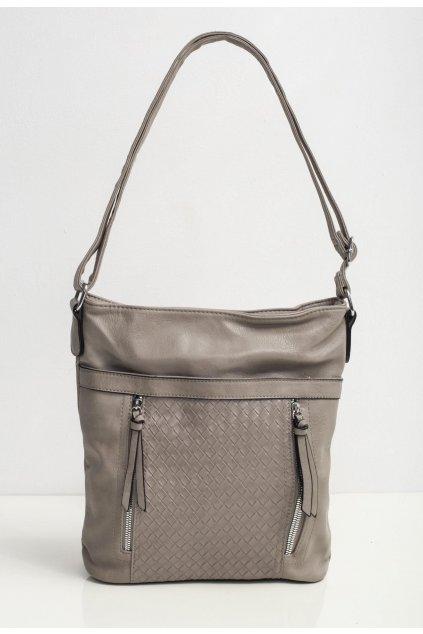 Šedá dámska kabelka