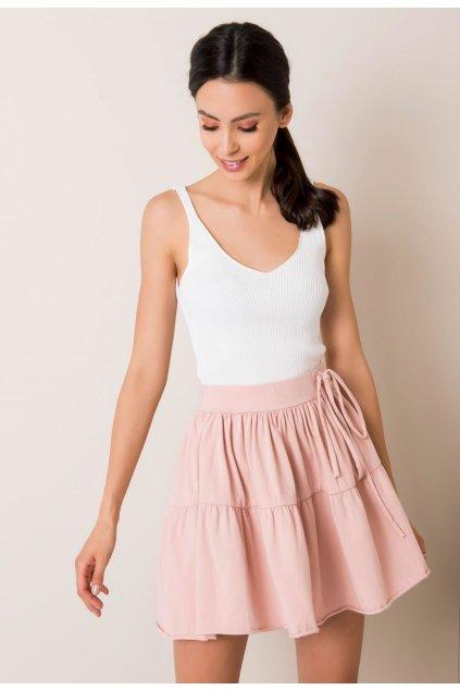 Ružová dámska pletená sukňa