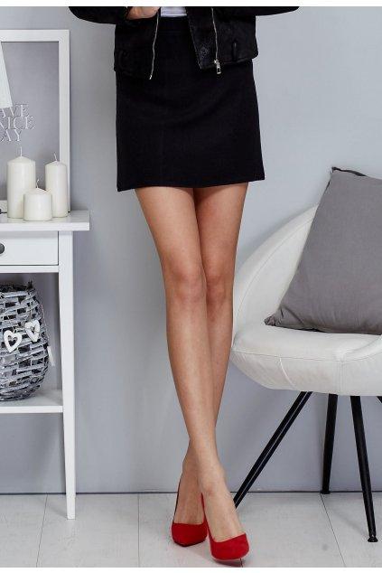 Čierna dámska puzdrová sukňa