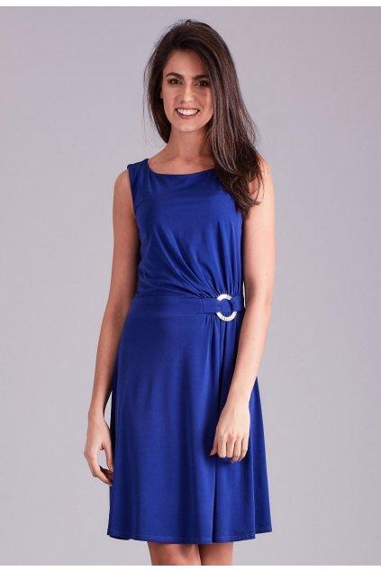 Kobaltové dámske spoločenské šaty