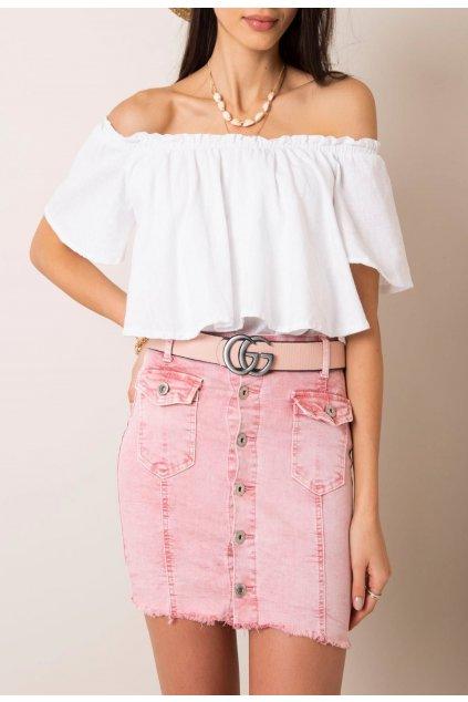 Ružová dámska riflová sukňa