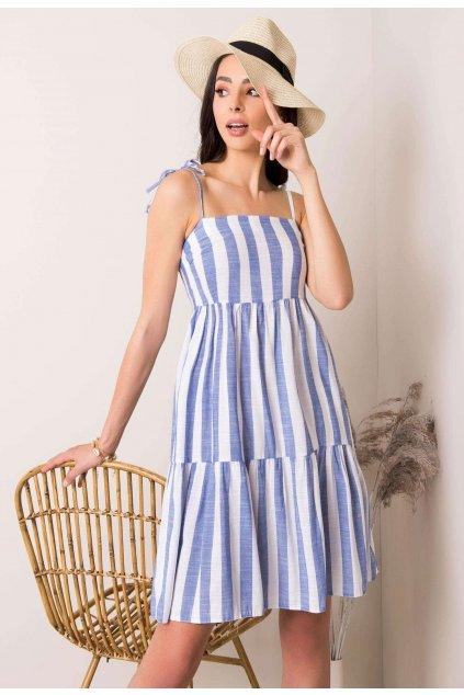 Bielo - modré dámske šaty