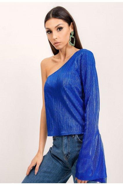 Modrá dámska elegantná blúzka