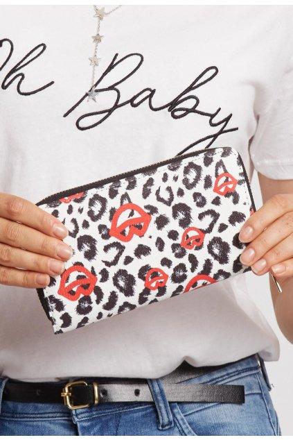 Bielo - čierna dámska peňaženka