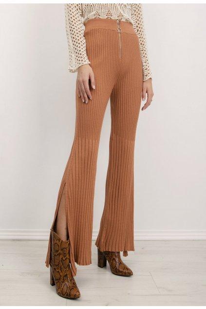 Hnedé dámske nohavice