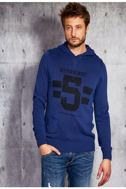 Kobaltový pánsky sveter